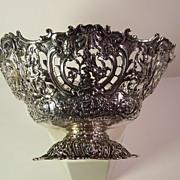 19th-20th Century German Repousse Silver Bowl