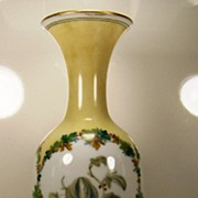 REDUCED Opaline Vase with Hand-painted Berries and Leaves | ca. 1885