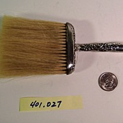 WHITING SILVER   Sterling Bonnet Brush   19th Century
