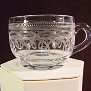 Needle Etched Punch Cup | 19th Century