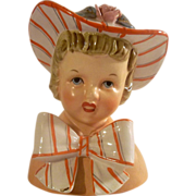 SALE Vintage Relpo Young Girl Head Vase