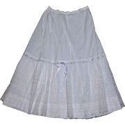 Victorian Cotton Slip - TLC or for Dolls Dresses