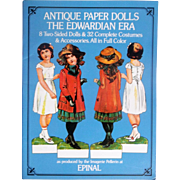 Antique Paper Dolls The Edwardian Era ~ 8 Two-sided Dolls & 32 Costumes & Accessories