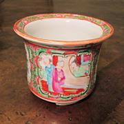 Chinese Export Rose Medallion Cache Pot, Circa 1920