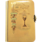 "Vintage Celluloid Child's Prayer Book, ""The Key Of Heaven"", 1905"