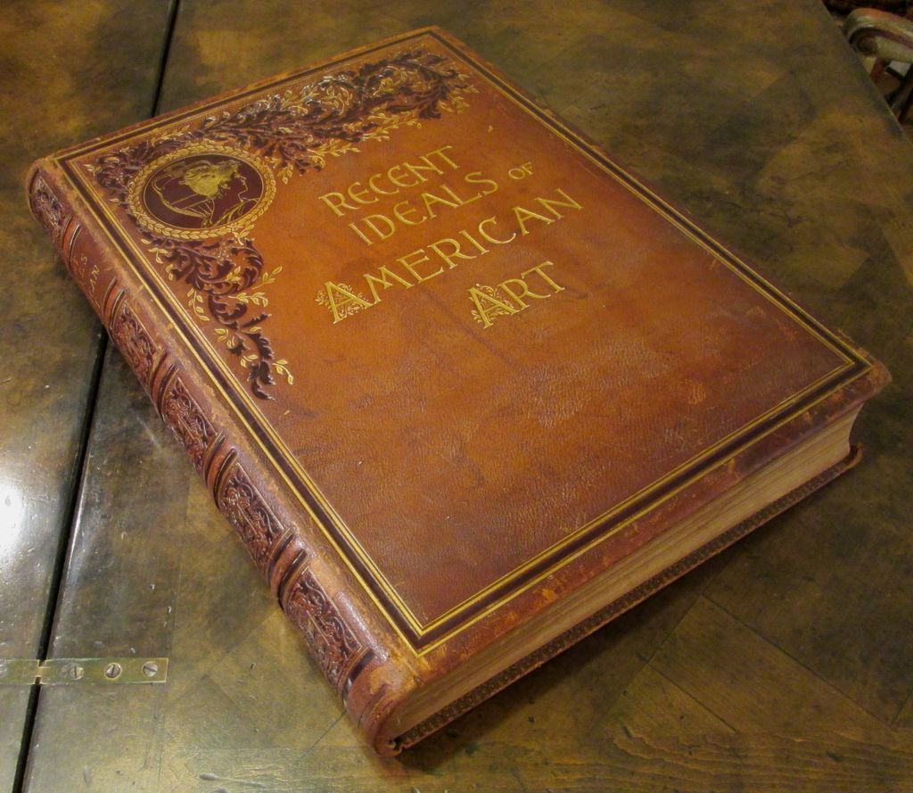 Antique Art Book Recent Ideals Of American Art 1890 From