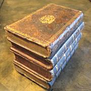 Antique Leather Faux Books Box, Circa 1900