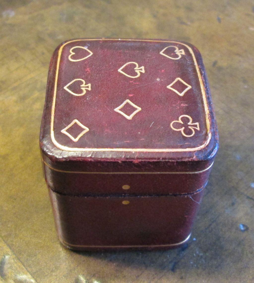 Vintage Playing Card Box Miniature Playing Card Box