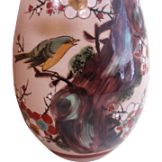 Japanese Kutani Vase Bird Sakura Tree