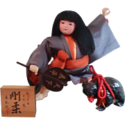 Japanese Vintage Large KINTARO Doll Go Gatsu Boys Day Gofun
