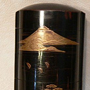 Japanese Inro Meiji Period Lacquer Medicine Box  4 Tier Inro Collectible