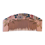 Lovely Japanese Hair Ornament Kushi Comb With Chrysanthemums