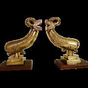 Bronze Garnitures or Bookends Heavy 21 lbs.