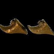 Antique Stirrups Conquistador Brass
