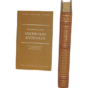 SALE Sherwood Anderson, Leather Bound Books, Winesburg Ohio, Collectors Edition