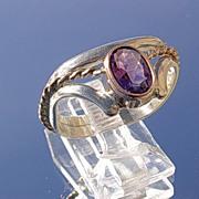 Sterling/9kt Rose Gold Amethyst  Ladies Ring