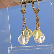 Sterling/Vermeil Briolette Citrine Earrings