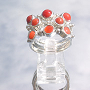 Sterling Triple Coral Stacking Rings