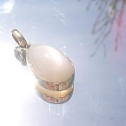 14kt Grey Moonstone Pear Shape Pendant