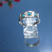 Sterling Multi Turquoise Band/Ring
