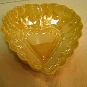 Belleek Mother of Pearl Heart Shaped Bowl