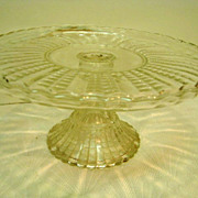 EAPG Early American Pattern Glass Fish Scale Cake Stand