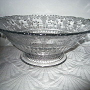 Cambridge Rose Point Footed Two Handled Bowl
