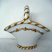Hand Painted Gold decorated Austrian Porcelain Basket