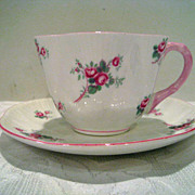 Fantastic Shelley Bridal Rose Cup and Saucer