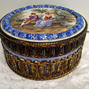 Forget Me Not Sevres Blue Covered Box