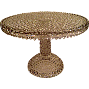 Early American Pattern Glass  EAPG Footed Hobnail Cake Stand