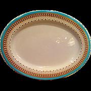 Royal Worcester Turquoise Trim Oval Platter