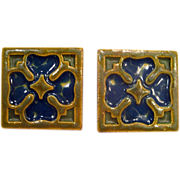 Two Hand Painted Rookwood Faience Tiles