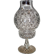 Rogaska Cut Crystal two piece Hurricane Lamp with Gallia Pattern