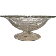Fostoria Footed Heather Decorated Bowl