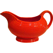 Vintage Fiesta Red Footed Gravy Boat or Sauce Boat Fiestaware