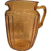 Pink Mayfair Open Rose Depression Glass 80 ounce Pitcher