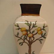 Hand Painted Limoges Orange Tree Decorated Vase