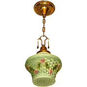 Consolidated Glass Basket Pendant