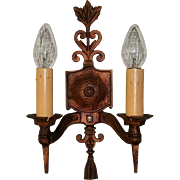 Three Pairs Large Arts & Crafts Sconces Wall Light Fixtures by S & A