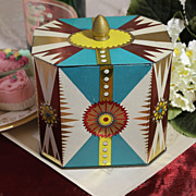 SOLD Art Deco British Biscuit Tin With Vibrant Color and Beautiful Design