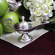 900 Silver Oil Lamp Aladdin Style *Perfect for Use as Oil Lamp or Genie Storage*