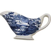 English Royal Staffordshire Cream or Gravy Serving Boat In Tonquin Pattern By Clarice Cliff