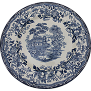 1 of 4 Royal Staffordshire Dinner Plate Tonquin Pattern By Clarice Cliff Made in England