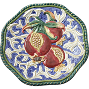 Fitz and Floyd Serving Plate With Vibrant Textural Design