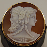 Signed Shell Cameo in 18kt Frame