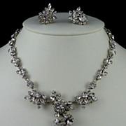 Austrian Rhinestone Necklace and Schoffel Earrings
