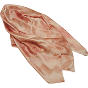 REDUCED Luxurious Pink Floral Satin Silk Christian Dior Scarf