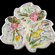 Blue Ridge 'Nove Rose' Martha Shape Snack Tray