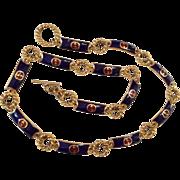 GUCCI 70's Enamel GG logo long necklace AMAZING!